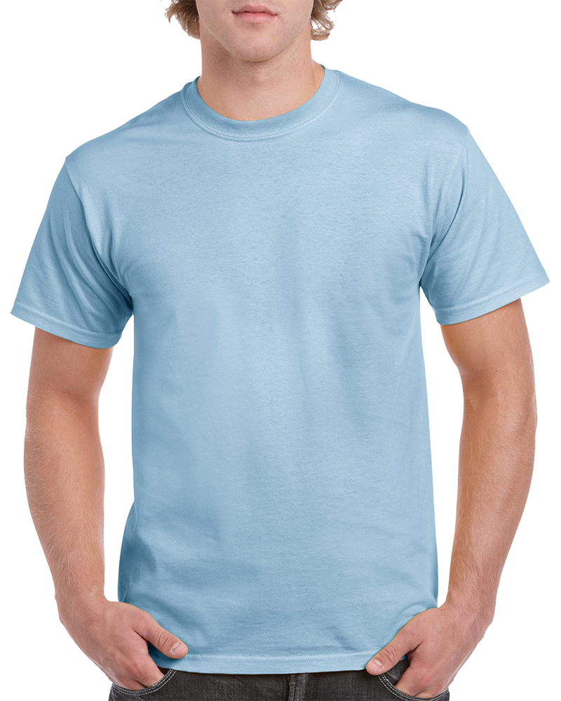 Custom light blue T-shirt Printing