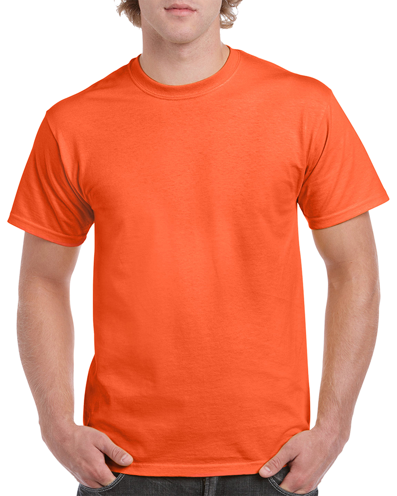 Custom Orange T-shirt Printing