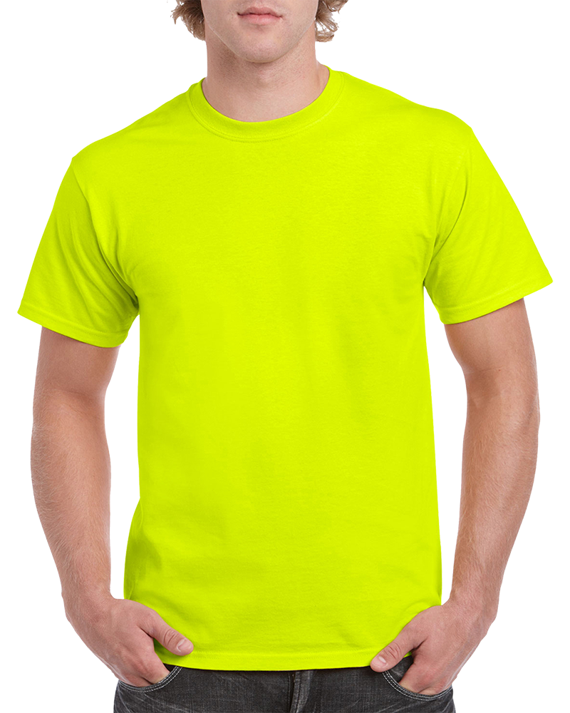Custom Safety Green T-shirt Printing