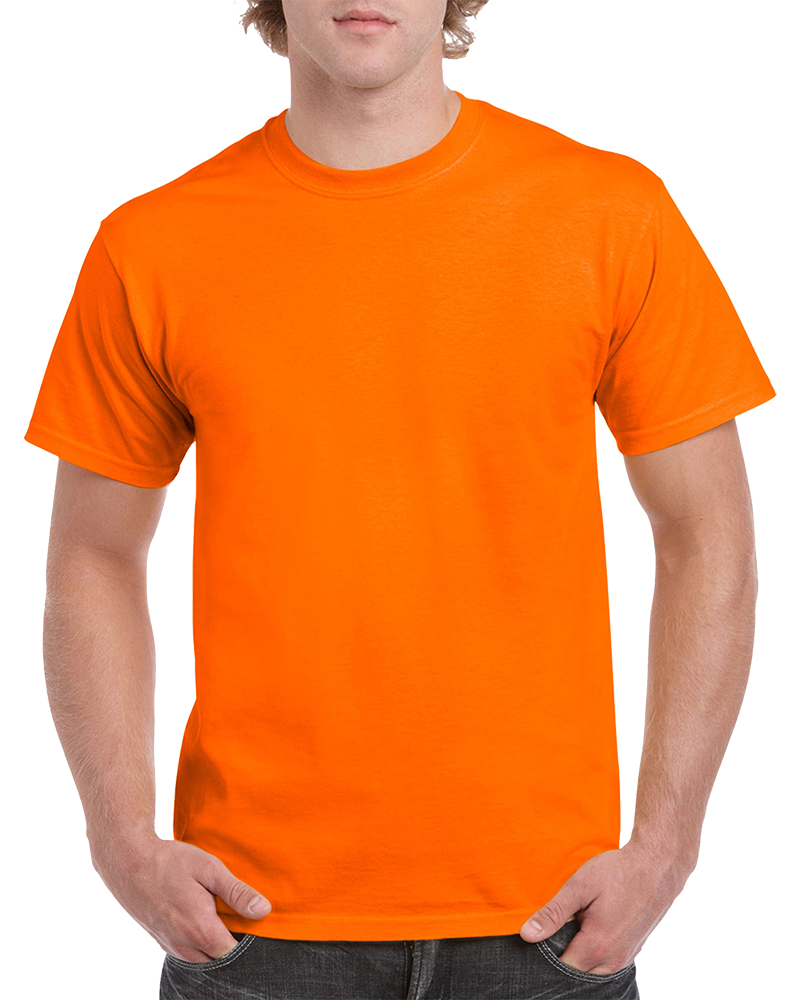 Custom Safety Orange T-shirt Printing